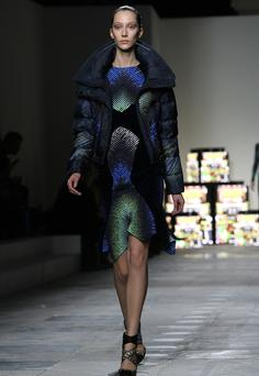 Duvet coats at Peter Pilotto for autumn.