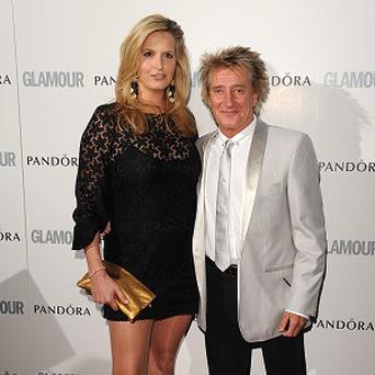 Rod Stewart and Penny Lancaster: the show's producers are going after her 'full force'