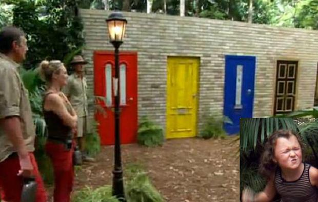 Charlie did not know that Kiki (inset) was behind one of the doors in the challenge.