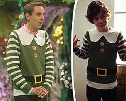 Harry's obviously beeng taking festive pointers from Tubs