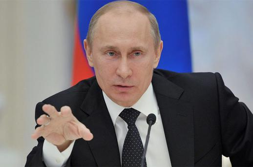 Russian President Vladimir Putin gestures during a government meeting in Moscow. Photo: Reuters