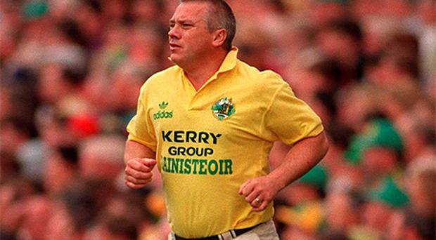 Paidi O'Se in his role as Kerry Manager in 1997