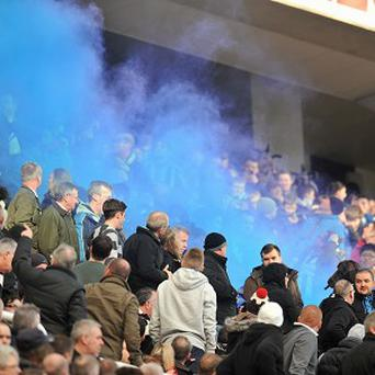 Flares were set off at St James' Park at the weekend