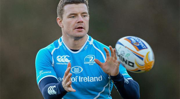 Brian O'Driscoll gave Leinster fans a boost when he returned to training at Belfield yesterday