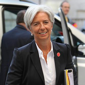IMF chief Christine Lagarde.