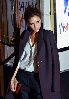 Victoria Beckham arrives for the premiere of the musical
