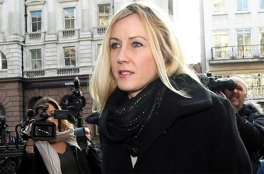 Sally Roberts arriving for the High Court hearing in London. Photo: Reuters