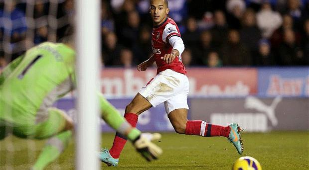Getting closer: good news for Arsenal as Theo Walcott resumes contract talks with for the first time since August. Photo: Getty Images