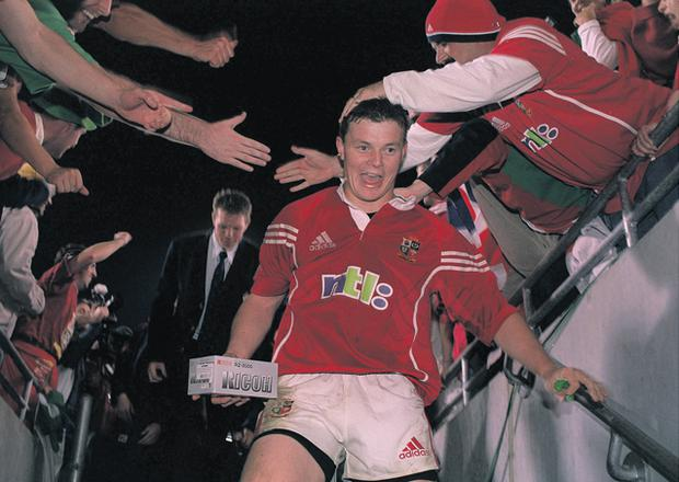Brian O'Driscoll's Lions career started superbly with a man of the match display in the win against Australia in 2001