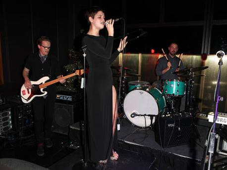 The singer and model performed with her band Violet in an exclusive London club