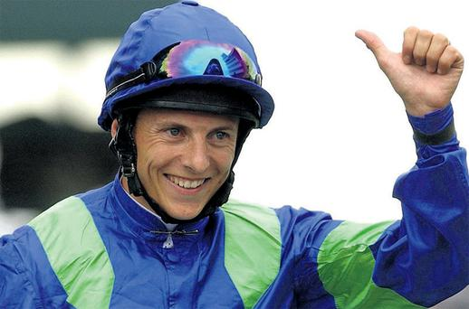 Irish jockey Eddie Ahern, here celebrating a Royal Ascot success in 2004, is facing racing corruption charges in England