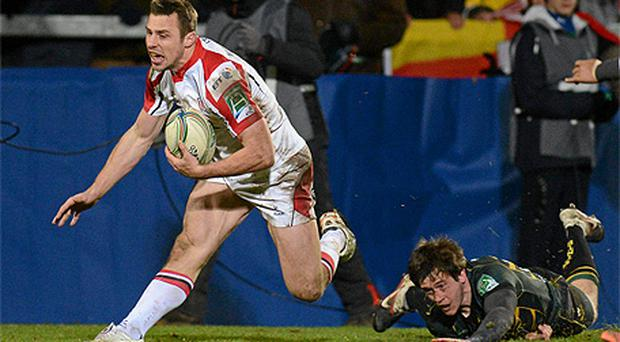 Tommy Bowe damaged his knee playing for Ulster