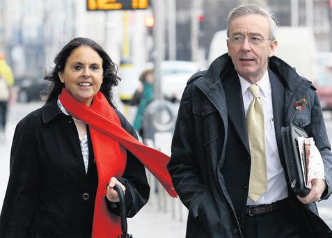Enda and Ian Quinn after the hearing yesterday