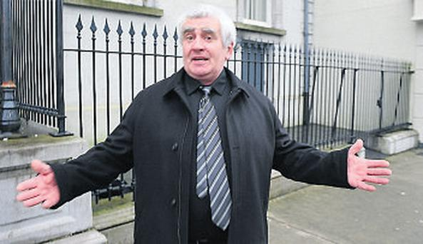 Donal Connaughton leaving Longford Circuirt Court yesterday