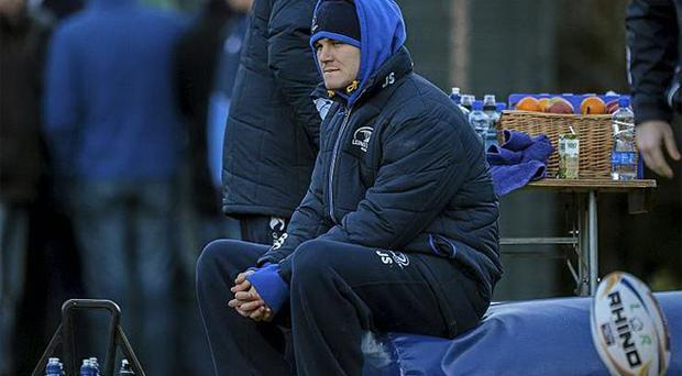 Leinster's Jonathan Sexton during squad training. Photo: Sportsfile