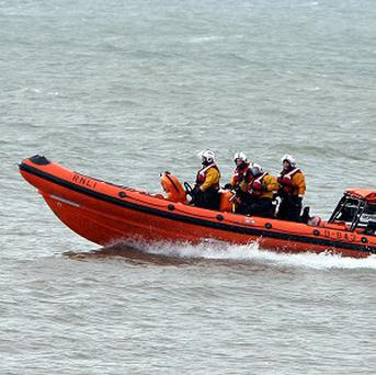The Campbeltown RNLI joined the coastguard and Royal Navy to help rescue the crew