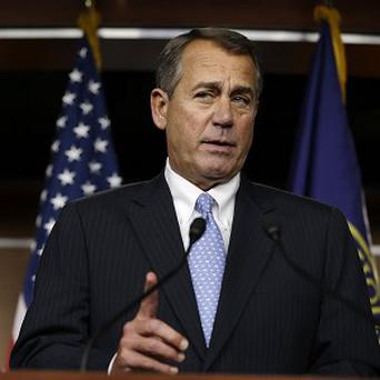 John Boehner speaks to the media about the fiscal cliff at the Capitol in Washington (AP/Jacquelyn Martin)