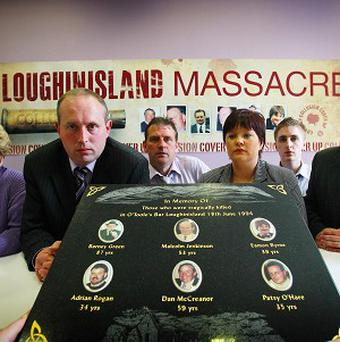 Relatives of the six men killed in the Loughinisland massacre criticised a previous report into the atrocity