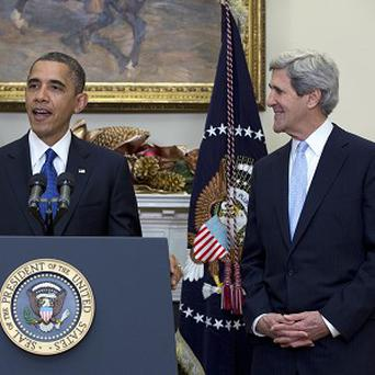 US President Barack Obama announces his nomination of Senator John Kerry as the next Secretary of State (AP)