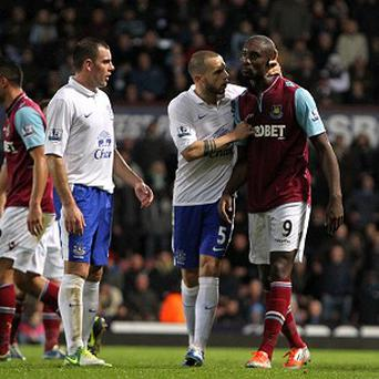 Carlton Cole, right, was dismissed against Everton