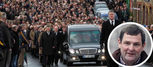 A general view of the funeral of Junior minister Shane McEntee in Nobber, Co Meath. PRESS ASSOCIATION Photo. Picture date: Monday December 24, 2012. See PA story FUNERAL McEntee Ireland. Photo credit should read: Julien Behal/PA Wire