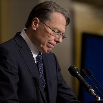 National Rifle Association executive vice president Wayne LaPierre makes a statement in Washington (AP/Evan Vucci)