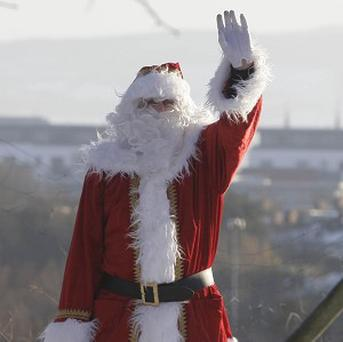 Santa Claus caused anger in in Vallsta, Sweden, by wearing a grey costume instead of a red one
