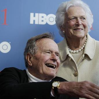 Former US president George HW Bush is said to be in intensive care (AP)