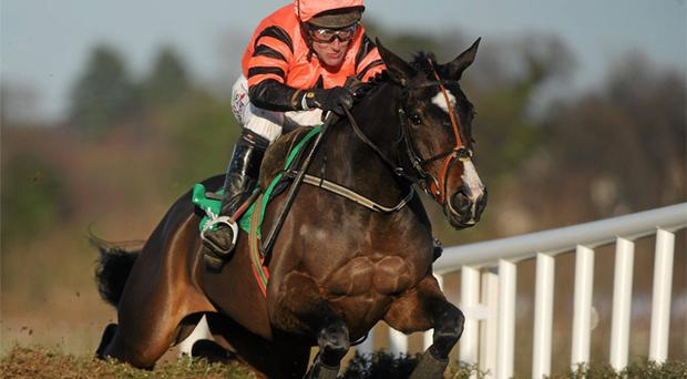 Jezki and Robbie Power on their way to victory at Leopardstown. Photo: Sportsfile