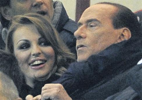 Francesca Pascale with former Italian prime minister Silvio Berlusconi. Photo: Getty Images