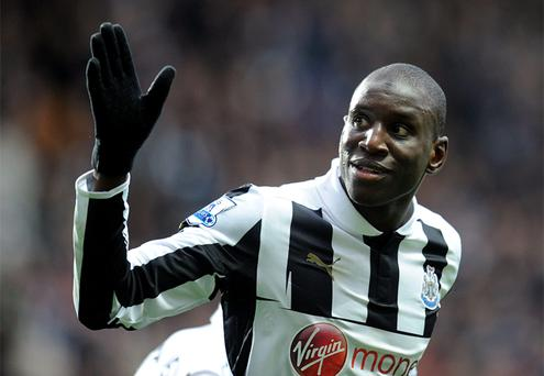 Manager Alan Pardew has told Demba Ba that even if he stays with Newcastle until the end of the season he will be sold in the summer if the release-clause remains in his contract. Photo: PA