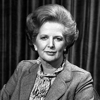 Margaret Thatcher before talking to the BBC TV programme Panorama on the Falklands crisis