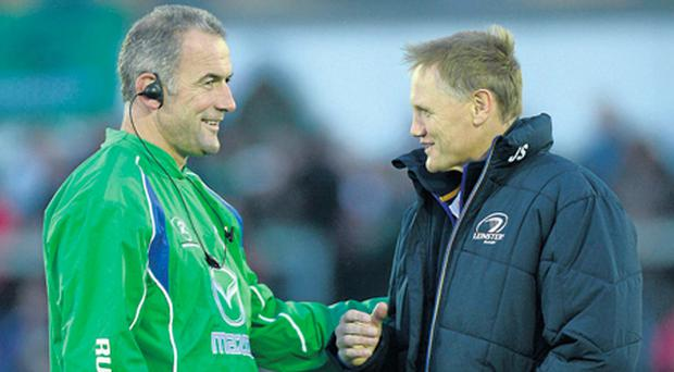 There will be little love lost between Eric Elwood's Connacht and Joe Schmidt's Leinster at the RDS today.