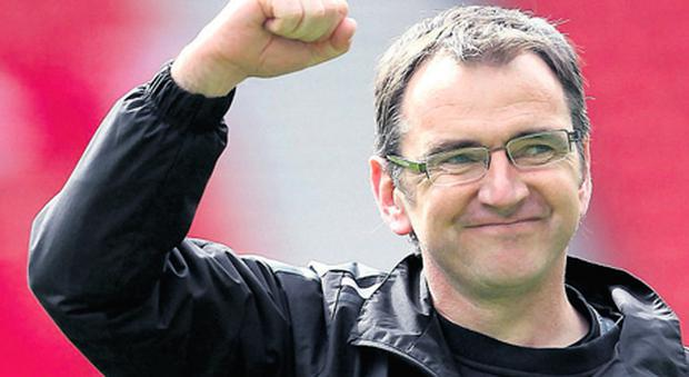 Pat Fenlon will be hoping his Hibs side can get something from today's clash with Celtic