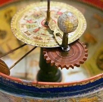 A century-old globe from Spain that may have been an early example of interactive education (Jacqueline Garget/University of Cambridge/PA)