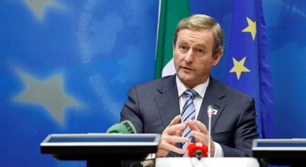 Taoiseach Enda Kenny holds a news conference at the end of an EU leaders summit in Brussels