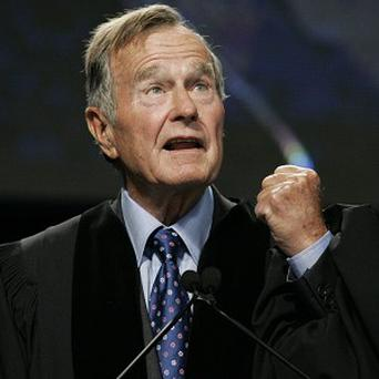 Former US president George HW Bush was taken to hospital on November 23 (AP)