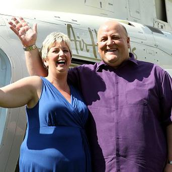 The biggest jackpot of the year went to Suffolk care worker Gillian Bayford and her husband Adrian