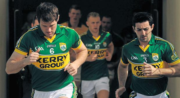 Eoin Brosnan (L), Kerry's stand-in captain against Laois for the National Football League clash last March, will be leading out the county team on a full-time basis in 2013