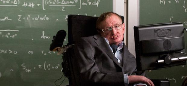 Stephen Hawking appearing in the latest TV ad for Go Compare