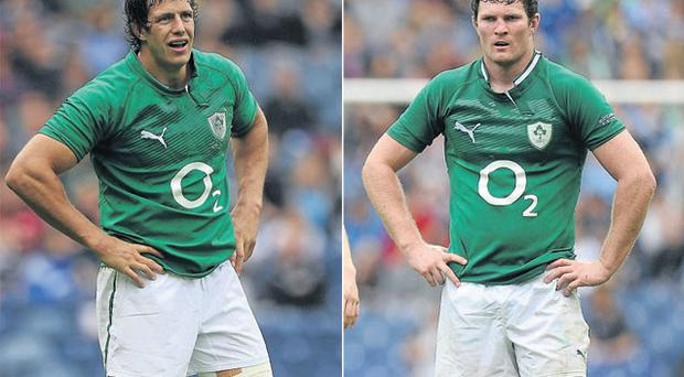 Mike McCarthy (left) and Donncha Ryan may team up in Ireland's second row for the start of the Six Nations next month