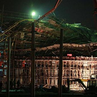 A construction accident in Shanghai has killed five workers (AP/Xinhua)