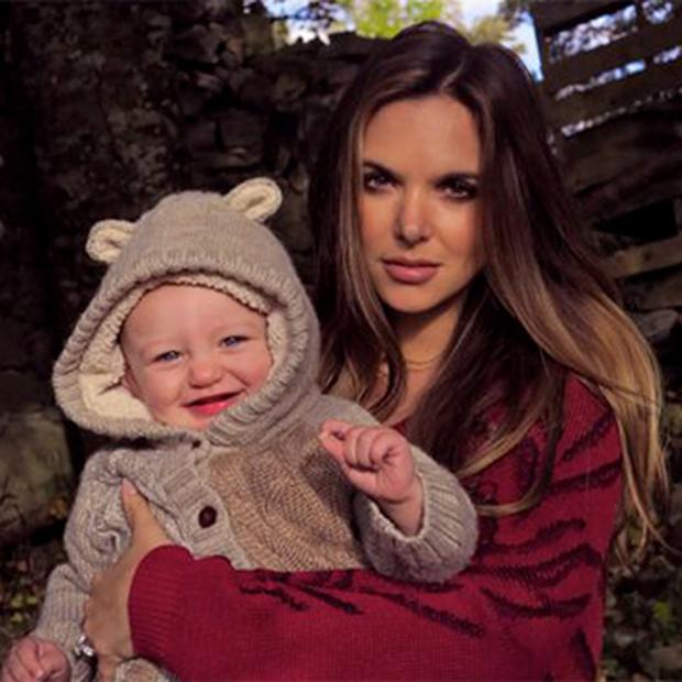 Kian Egan's wife Jodi Albert with their son Koa