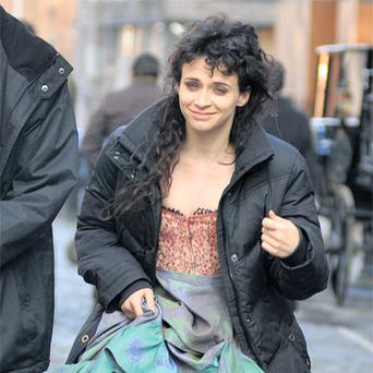 Actress Charlene McKenna during a break from filming 'Ripper Street'