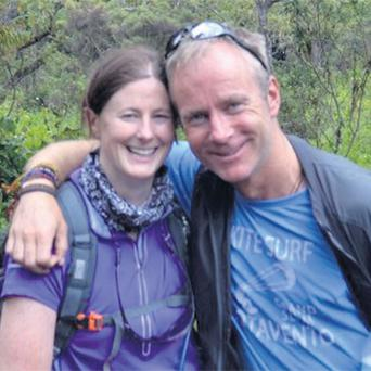Mountaineer Ian McKeever with his fiancee Anna O'Loughlin