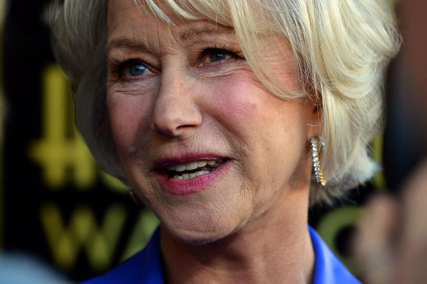 HOLLYWOOD, CA - JANUARY 03: Actress Helen Mirren,who Honored On The Hollywood Walk Of Fame with her own star on January 3, 2013 in Hollywood, California. (Photo by Frazer Harrison/Getty Images)