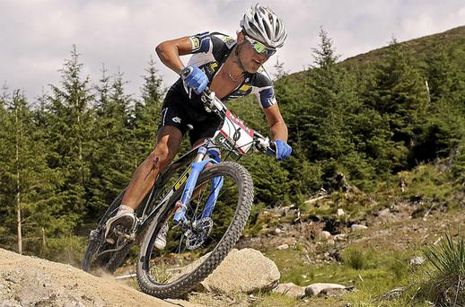 South African mountain biker Burry Stander has died in a road accident while on a training ride. Photo: PA