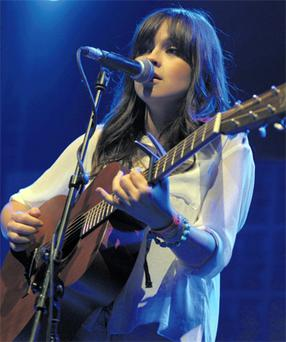 Gabrielle Aplin on stage