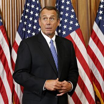 House Speaker John Boehner shortly after he survived a roll call vote in the newly convened 113th Congres (AP/J Scott Applewhite)
