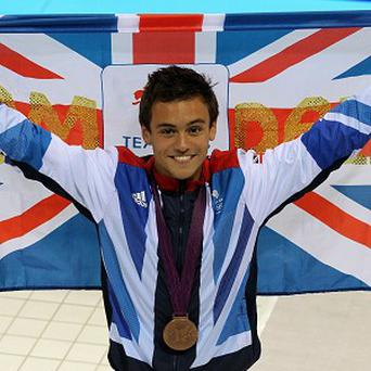 Celebrities have been learning to dive under the eye of Olympics ace Tom Daley